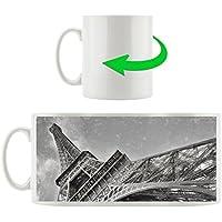 Torre Eiffel potente movente tazza di bianco 300 ml di ceramica, grande idea regalo per ogni occasione. La tua nuova tazza preferita per caffè, tè e bevande calde.