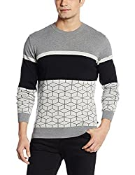 United Colors of Benetton Mens Cotton Sweater (8903975204850_16A1098K1014I_S_Black-100)