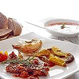 Vancasso Lolita Porzellan Geschirrset, 12-teilig Teller Set für 6 Personen, mit je 6 Speiseteller und Suppenteller - 8
