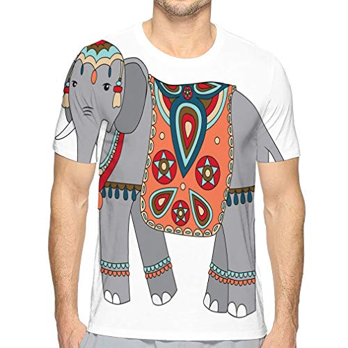 Men's Short Sleeve T-Shirt Elephant Abstract -