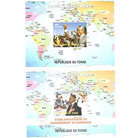 Francobolli da collezione - Inspirational Persone francobolli della collezione - 2 di menta e Foglietti non montate di francobolli tematici caratterizzati Nelson Mandela e Barack Obama. Ideale per la filatelia. 2 mint condition stamps - scardinata.