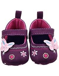 Auxma Para niñas Moda bebé zapatos mariposa niño suela suave