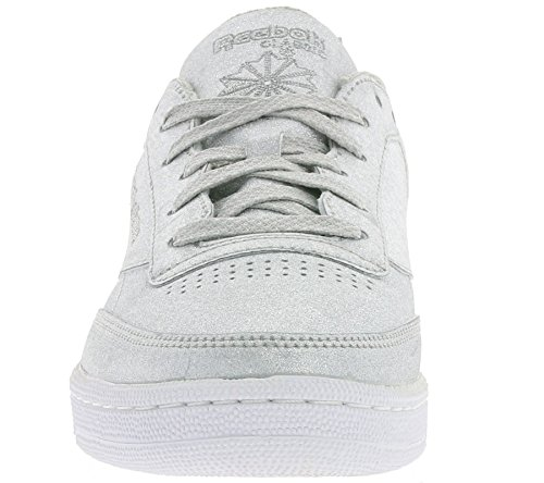 Reebok Club C 85 Syn, Chaussures de Fitness Femme Multicolore (Diamond-silvr Met/gr)