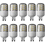 LED G93W Paquete de 10290lúmenes luz blanca cálida Bombilla Mini bombilla