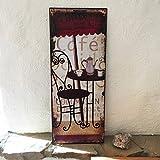 Antikas - Cafe-Haus Blechschild mit Cafe-Schild Dekoration Küche Bilder Kaffee Coffee