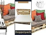 Doppelpack zum Sparpreis - Schaumstoffpolster passgenau für Europaletten - in 3 verschiedenen Qualitäten - geeignet als Sitz- und Liegepolster - für den Innen- und Außenbereich - made in Germany, 120x80x8 cm [35/55 weiß]