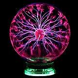 Desinger Neuheit Glas Magie Plasma Statische Elektrizität Ball Licht 4 5 6 Zoll Tischleuchten Kugel Nachtlicht Kinder Geschenk Für Magische Plasma Blitz Nachtlampe (Größe : 6 Inch)