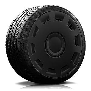 Autoteppich Stylers (Farbe & Größe wählbar) 15 Zoll Radkappen Granit Schwarz passend für Fast alle gängingen Fahrzeuge (universal)