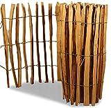 GartenDepot24.de Hazel clôture sur l'espacement des rouleaux entre les lames 3-5 cm, H90 x L500 cm, naturel