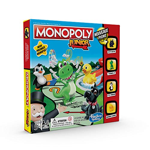 Monopoly Junior - Jeu de societe pour enfants - Jeu de plateau - Version française