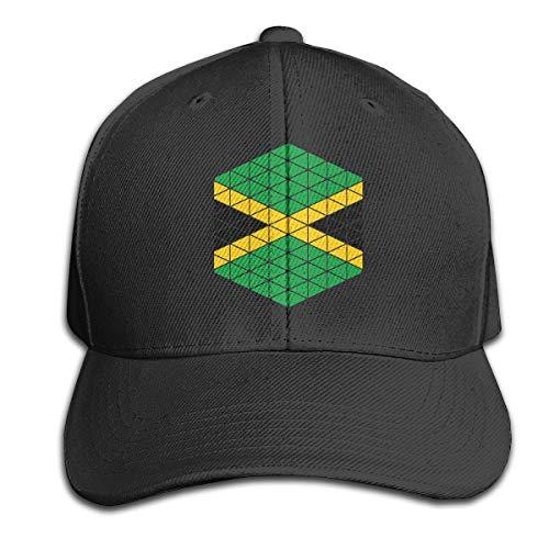 Osmykqe Jamaican Dancehall Flag Unisex Sommer Sonnenhut einstellbar lässig Golf Tennis Caps (Jamaican Hüte)