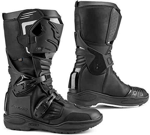 Falco Avantour Evo - Stivali da moto, in pelle, impermeabili, colore: Nero