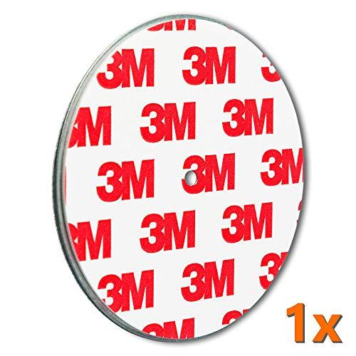 ECENCE Rauchmelder Magnethalter 1 Stück Selbstklebende Magnethalterung für Rauchmelder Ø 70mm schnelle & sichere Montage ohne Bohren und Schrauben für alle Feuermelder und Rauchwarnmelder 13010103