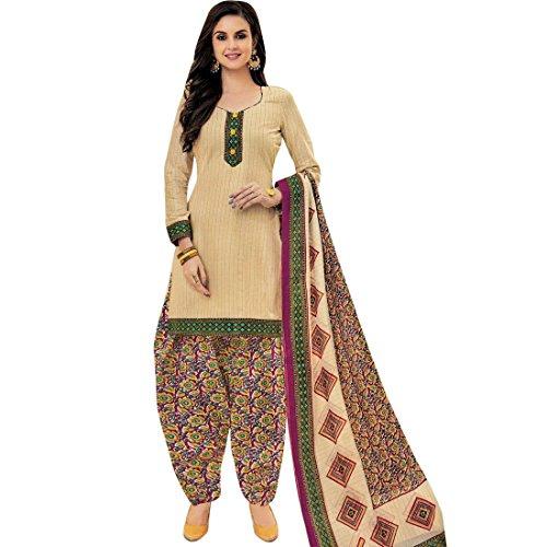 Lady Line Ethnic Cotton Printed Salwar Kameez Suit/ Un-Stitched Dress Material