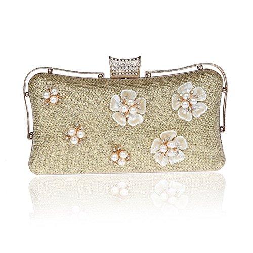 Moda fiore borsa da sera/ strass Party Pack/Pochette-A A