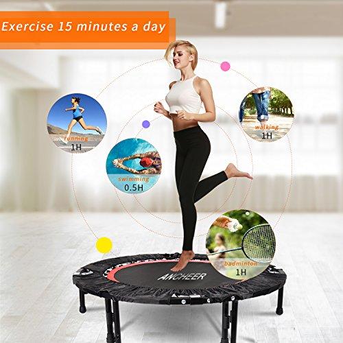 Ancheer Trampolin, Indoor Trampolin mit Handgriffe, Ideal für Fitness Heimtraining (Klappbares Trampolin) - 6
