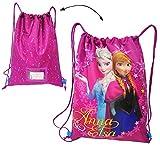 alles-meine.de GmbH Sportbeutel - Turnbeutel - Schuhbeutel -  Disney die Eiskönigin / Frozen  - abwischbar & wasserabweisend - Mädchen / Sporttasche - für Kinder - Schulbeutel ..