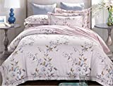 Simple bedding four sets of equipment, naked Tiansi cotton and linen satin printing four sets of bedding