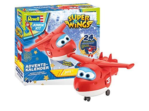 51NFJqudF0L - Revell Junior Kit 01024 Super Wings Adventskalender Jett Bauen-Schrauben-Spielen, 24 Tage cooler Bastelspaß, ab 4 Jahre, 20 cm