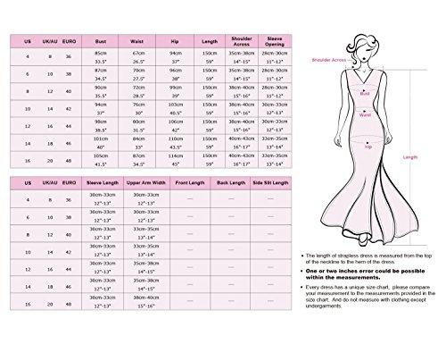 Ever Pretty Robe de Soirée Robe de Cérémonie Maxi Manches Courtes Élegante EP08655 Noir