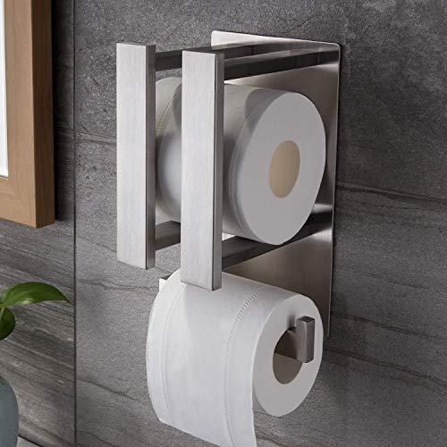 Ruicer Toilettenpapierhalter Selbstklebend Klopapierhalter ohne Bohren Ersatzrollenhalter Edelstahl WC Papierhalter