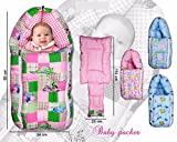 kuwer Industries 3 in 1 Baby Bett mit Bettwäsche-Set/Baby Carrier/Schlafsack (ki3451)