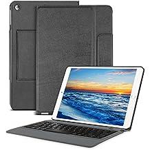 OMOTON Funda con Teclado para Nuevo iPad 9.7 (2017) , 2 en 1 Bluetooth Teclado con Funda , PU Cuero [Auto Encendido /Apagado]