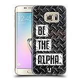 Head Case Designs Be The Alpha Fitness Typographie Soft Gel Hülle für Samsung Galaxy S7 Edge