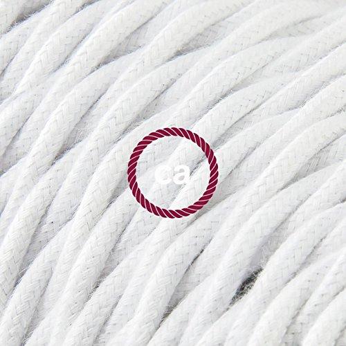 fil-electrique-torsade-gaine-de-coton-de-couleur-tissu-uni-blanc-tc01-5-metres-2x075