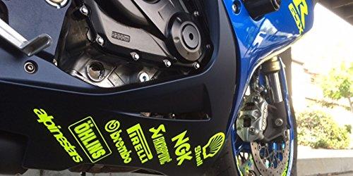 ! -14 Pegatinas para Cárter de Moto, Diseño de patrocinadores, Color Amarillo...