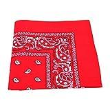 Unbekannt Bandana Kopftuch Halstuch Nickituch Biker Tuch Motorad Tuch verschied. Farben (Rot)