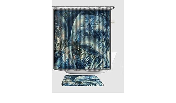 EGood Space Balls Art Shower Curtain 60x72 Inch Doormat 157x236 Outside Door Mats Amazoncouk Kitchen Home