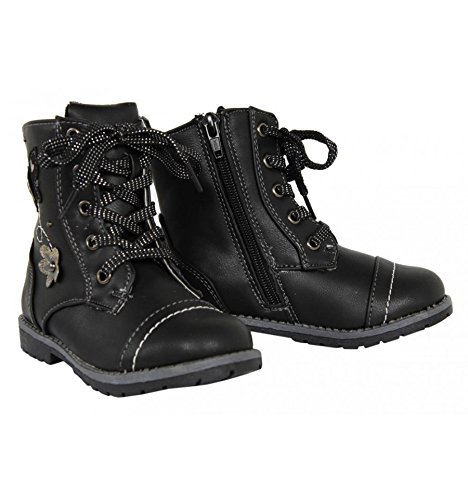 Urban Shoes , Bottes militaires fille Multicolore - Negro / Pewter