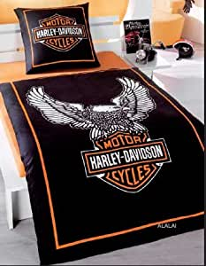 harley davidson bettw sche hochwertige renforce qualit t design eagle 135 x 200 cm motor. Black Bedroom Furniture Sets. Home Design Ideas