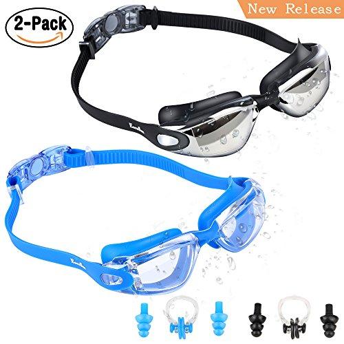EocuSun Schwimmbrille, 2 Pack Schwimmbrille Für Erwachsene, Schwimmen Brille mit Anti Fog und...