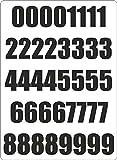 Akachafactory Set 40x Autocollant Sticker Porte Voiture Moto Numero Nombre Chiffre Course Noir
