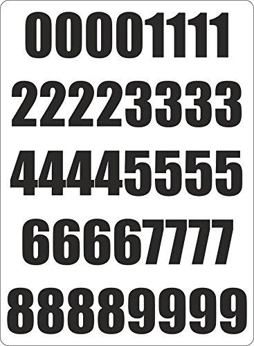 Set 40x autocollant sticker porte voiture moto numero nombre chiffre course noir