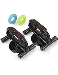 INTEY Lot de 2 Push Up Bars /Poignées de Pompe/ Pompe Barre Push Up et Sit Up à Double Usage-- pour Musculation des Bras, Epaules, Poitrine--pour Homme/Femme