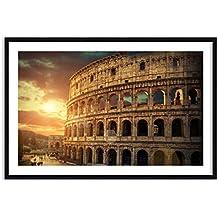 Imagen en un marco de madera de color negro - Imagen en un marco - Cuadro sobre lienzo - Impresión en lienzo - Ancho: 120cm, Altura: 80cm - Foto número 2966 - listo para colgar - en un marco - F1BAA120x80-2966