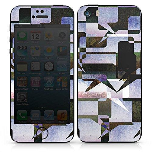 Apple iPhone SE Case Skin Sticker aus Vinyl-Folie Aufkleber Grafisch Kollage Modern DesignSkins® glänzend