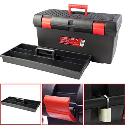 Kunststoff Werkzeugkoffer Classic Basic 26''', 58x29cm Kasten Werzeugkiste Sortimentskasten Werkzeugkasten Anglerkoffer