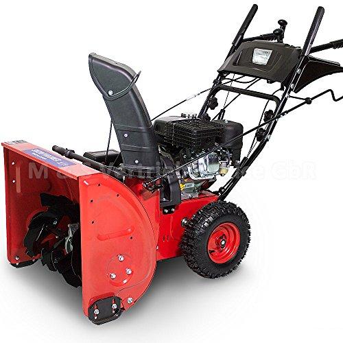 Preisvergleich Produktbild Premium Schneefräse extra breit 60cm - 6,5 PS Benzinmotor E-Start