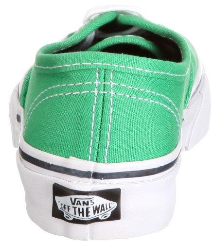 Vans T AUTHENTIC blk Sneaker, Unisex Bambino Verde /island green/black)
