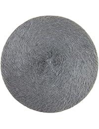 Beret pelo del sombrero superior de las boinas de las mujeres Lawevan conejo
