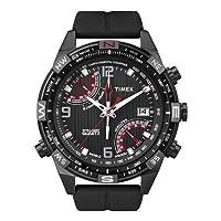Reloj Timex T49865 de cuarzo para hombre con correa de silicona, color negro de Timex