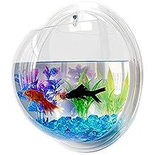 Transparent Acrylic Fish Bowl Wall Hanging Aquarium Tank Aquatic Pet Supplies Pet Products Wall Mount Fish Tank (29.5cm)