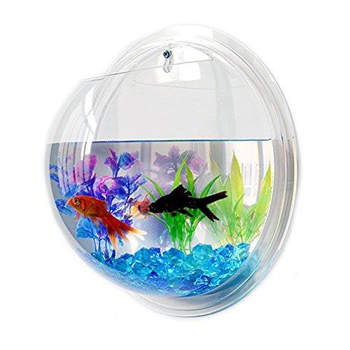 Transparent Acryl Fisch Schüssel Wand aufhängen Aquarium Tank Aquatic Pet Supplies Pet Products Wandhalterung Fisch Tank (Wand-fisch-schüssel)