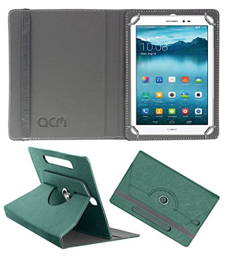 Acm Designer Rotating Leather Flip Case for Huawei Honor T1 Cover Stand Turquoise  available at amazon for Rs.189