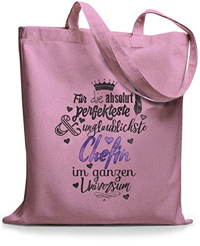 StyloBags Jutebeutel / Tasche Für die absolut perfekteste Chefin Rosa
