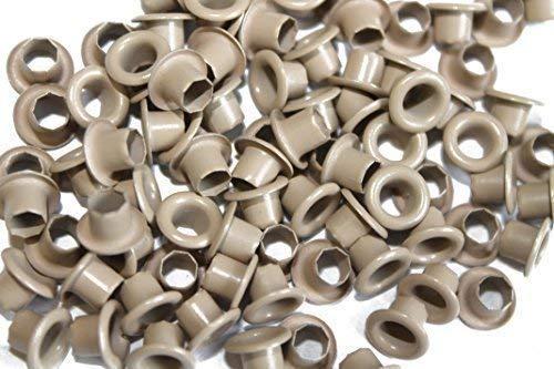 Trimming Shop 100 X 4mm für Kleidung und Leder Basteln - Ösen für Bänder, Schnürung und Stoff in Kunst und Nähen Projekte für Beutel Scrapbooking und Kleidung Reparatur - 4 mm, Gold, 4mm -